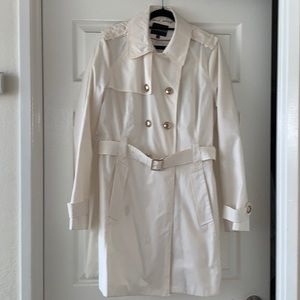 Off white trench coat